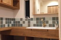 施工事例^ ^自然素材で素敵な洗面室