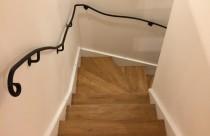 【施工事例】 かわいいアイアン階段手すり♪