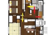 玄関1つのタイプの二世帯住宅